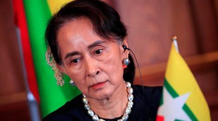 Mianmare kitą savaitę prasidės nuverstos lyderės Aung San Suu Kyi teismas