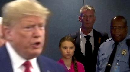 Donaldas Trumpas sako būtų norėjęs Davose susitikti su Greta Thunberg