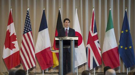 Didžiojo septyneto ministrai susitinka priešpriešos su Rusija fone