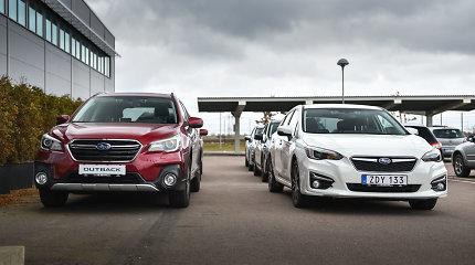 """Ką rinksis lietuviai: naują """"Subaru Impreza"""" ar atnaujintą """"Outback""""?"""