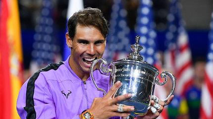 """Istorinis """"US Open"""" finalas – R.Nadalis po 5 setų trilerio nukovė D.Medvedevą"""