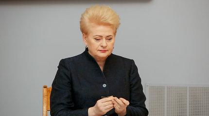 Įvertino E.Masiulio ir prezidentės susirašinėjimą: gali grėsti apkalta