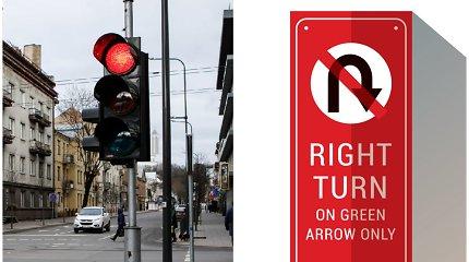 Ko vertas ministro J.Narkevičiaus siūlymas leisti sukti į dešinę degant raudonai?
