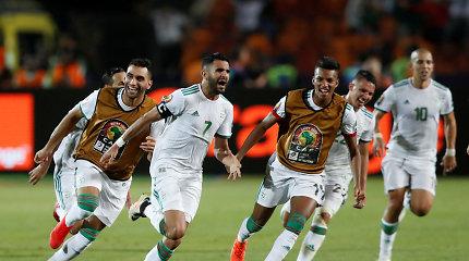 Nuostabus R.Mahrezo smūgis atvėrė Alžyrui kelialapį į Afrikos čempionato finalą