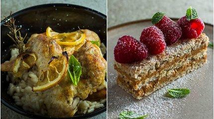 Gurmaniškas duetas: vištienos sparneliai su citrina ir cinamonu kvepiantis pyragas