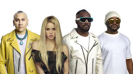 """""""Black Eyed Peas"""" ir Shakira metus pabaigia su bendra naujiena"""