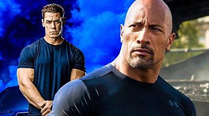 """Johnas Cena """"Greiti ir įsiutę"""" franšizėje tikisi revanšo prieš Dwayne'ą Johnsoną"""