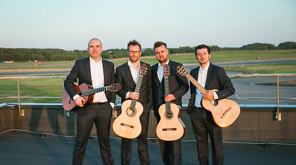 Baltijos gitarų kvarteto vaizdo klipe – Vilniaus oro uosto kilimo ir tūpimo takas