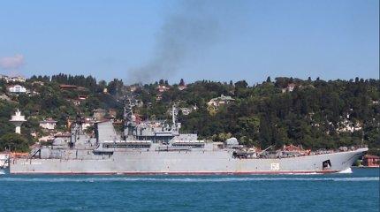 Laivų stebėtojas: Rusijos pasirengimą veiksmams Sirijoje regiu iš Stambulo centro