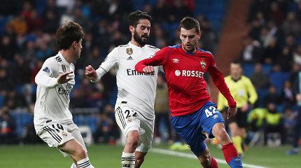"""Čempionų lyga: Maskvos CSKA vėl pažemino namuose žaidusį Madrido """"Real"""""""
