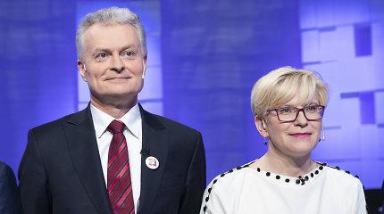 G.Nausėdos ir I.Šimonytės rinkimų sąskaitos smarkiai išaugo paskutinėmis dienomis