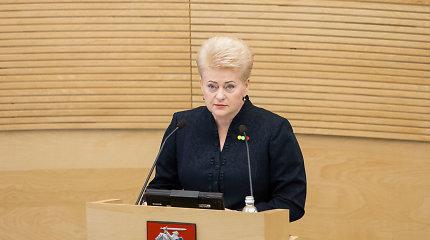 Seime bus pateiktos prezidentės pataisos etatinio mokytojų apmokėjimo modeliui