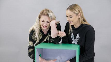 """""""Atspėk, kas dėžėje"""" metų laida: Natalija Bunkė ir Goda Alijeva cypė, klykė bei bandė pabėgti"""
