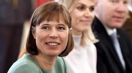 Estijos prezidentė planuoja 2018-aisiais mėnesiui persikelti į Narvą