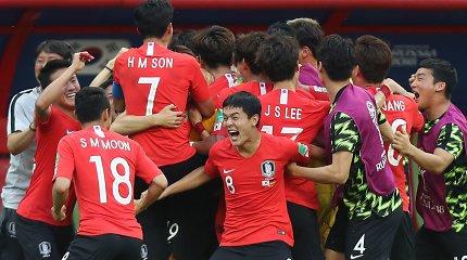 Kuriozas: Vokietiją nukovusi Pietų Korėja galvojo, kad pateko į aštuntfinalį