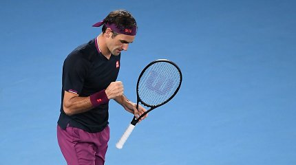 "Rogeris Federeris praskriejo pro pirmąjį oponentą ""Australian Open"" turnyre"