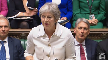 """ES pareigūnas: Th.May kalba išryškino """"Brexit"""" be išstojimo sutarties pavojų"""