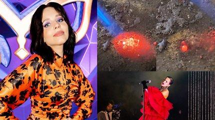 Monika Liu ne tik dainuoja, bet ir lituoja: į sceną lipa su žaizdomis ant pirštų