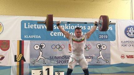 Absoliutūs Lietuvos sunkiosios atletikos čempionai – Ž.Stanulis ir G.Bražaitė