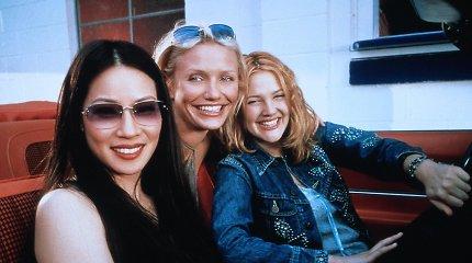 """Cameron Diaz, Drew Barrymore ir Lucy Liu """"Čarlio angelų"""" filmuose"""