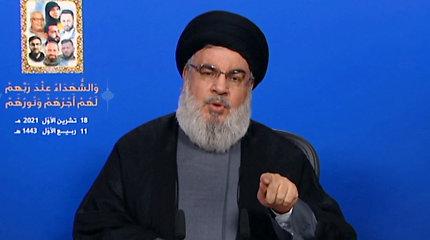 """Libano """"Hezbollah"""" vadovas: judėjimas turi 100 tūkst. kovotojų"""