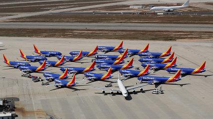 """Kiek kainuoja nenaudojamų """"Boeing 737 MAX"""" saugojimas? Kas už tai sumokės?"""