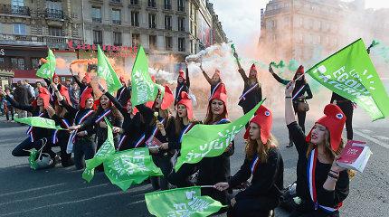 Paryžiuje protestuota prieš pagalbinio apvaisinimo galimybę vienišoms moterims, lesbietėms