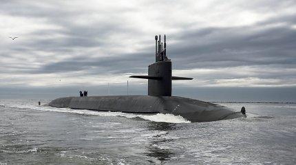 """JAV povandeninis laivasatliko dviejųraketų """"Trident II"""" bandomąjį paleidimą"""