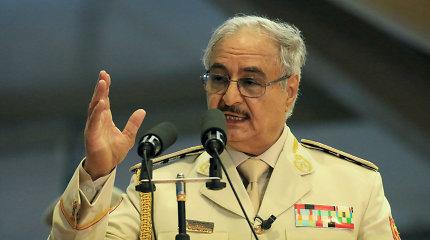 Libijos vicepremjeras atsistatydino ir išreiškė paramą kovotojų vadui Kh.Haftarui