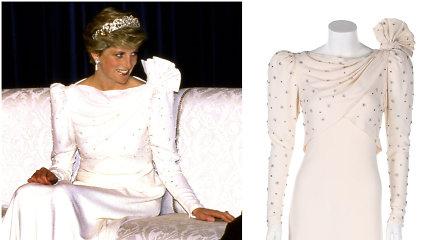 Dėvėtų drabužių parduotuvėje rasta princesės Dianos suknelė: aukcione parduodama už 100 tūkst.