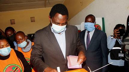 Zambijos prezidento rinkimus laimėjo opozicijos lyderis H.Hichilema