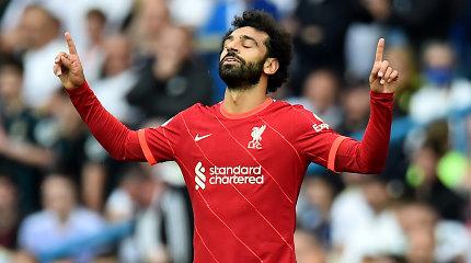 """Jubiliejinis M.Salaho įvartis """"Premier"""" lygoje pažymėtas lengva """"Liverpool"""" pergale"""