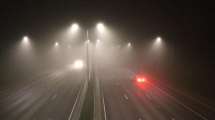 Rytų Lietuvoje dėl rūko keliuose sumažėjęs matomumas