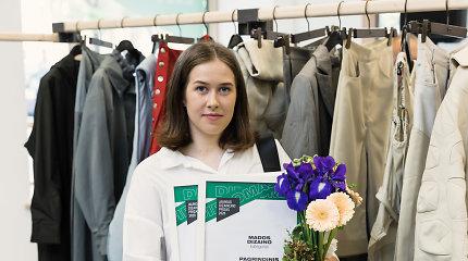 """""""Jaunojo dizainerio prizo"""" laureatės kolekcija – pasiūta iš senos suplyšusios palapinės"""