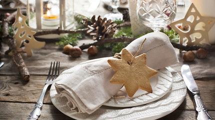 Kalėdų stalo dekoras: idėjos, kurios įkvepia