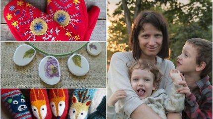 """Eglė iš senų megztinių kuria pirštines, iš indų šukių – papuošalus: """"Net iš susitraukusios vilnos galima padaryti begalę dalykų"""""""