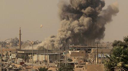 JAV smerkia Damasko režimo, Rusijos pajėgų atakas Sirijoje, per kurias žuvo civilių