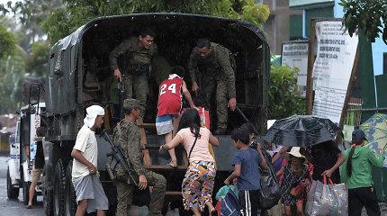 Filipinuose dėl artėjančio taifūno uždaromas Manilos tarptautinis oro uostas