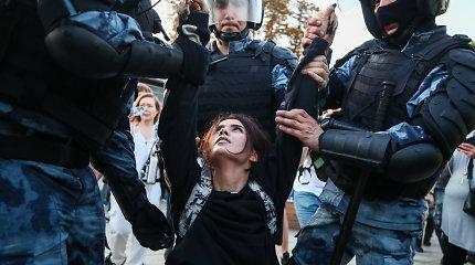 Protestai Maskvoje atskleidžia konkurenciją tarp V.Putinui pavaldžių institucijų