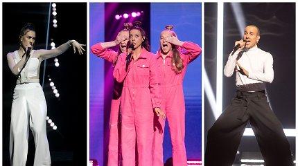 """""""Eurovizijos"""" nacionalinėje atrankoje – kova dėl paskutinių vietų pusfinaliuose: ką palaikote jūs?"""