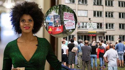 """Proteste Dieveniškėse pasirodžiusi E.Maštavičienė: """"Ir aš buvau žmogus už tvoros"""""""