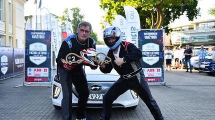 """Pagal naujas taisykles vykusiose elektromobilių varžybose nugalėjo """"Audi e-tron GT"""""""