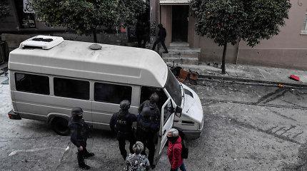Atėnų policija iškeldino anarchistus iš neteisėtai užimtų būstų