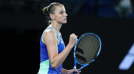 """Australian Open"": lengvomis pergalėmis džiaugėsi K.Pliškova ir A.Kerber"