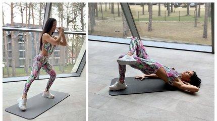 Indrė Burlinskaitė pavasario proga pasidalijo veiksmingais sporto pratimais