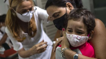 Kuboje nuo COVID-19 pradėti skiepyti vaikai nuo dvejų metų