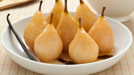 Stebuklas, o ne desertas: troškintos vanile kvepiančios kriaušės