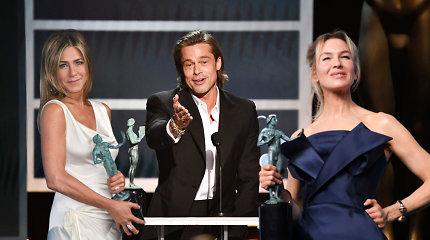 Aktorių gildija išdalijo bronzinius trofėjus: tarp laureatų – Jennifer Aniston ir Bradas Pittas