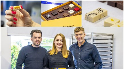 Iš Škotijos grįžo su idėja verslui – trijulė namuose Triškoniuose įkūrė šokolado cechą