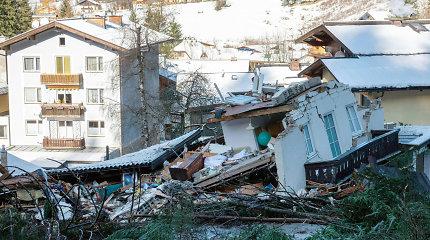 Austrijoje liūčių sukelta žemės nuošliauža nusinešė vieną gyvybę